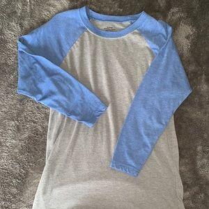 Tops - Grey and Blue Baseball Tee